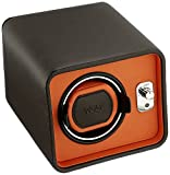 WOLF 452406 Windsor Single Watch Winder, Brown/Orange
