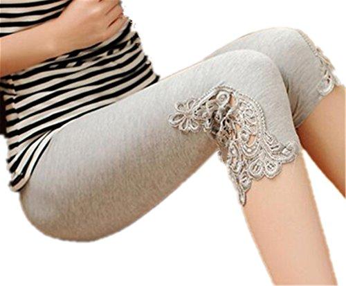 BCVHGD Plus Size Leggings S- 7XL Leggings Women Cotton Legging Pants Women's Summer Jeggings Solid Color 7XL 6XL 5XL 4XL 3XL XXL XL L M grey3 5XL Cosy by BCVHGD leggings-pants
