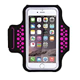 1617 EU Running Armband With Key Holder 5.5'' Universal Waterproof Adjustable Sports Sweat-Free Workout Pouch For iPhone 8 7 6 6S Plus x,Galaxy s8 s7 s6 Edge, Note 8 5