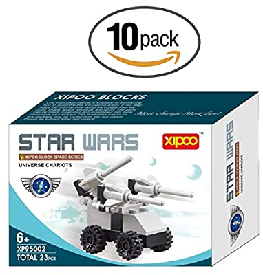 10 Pack Building Bricks Star Vehicle Wars 23 Pcs Construction Toy Great Party Favors Set For Kids Ages 6 Plus