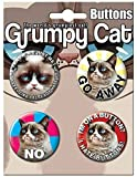 Ata-Boy Grumpy Cat Assortment #2 4 Button Set