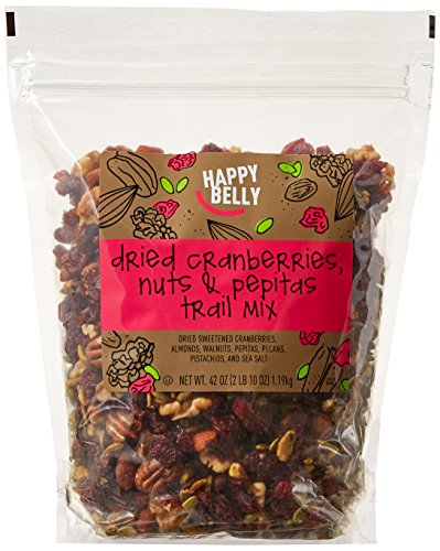 Amazon Brand - Happy Belly Dried Cranberries, Nuts & Pepitas Trail Mix, 42 oz