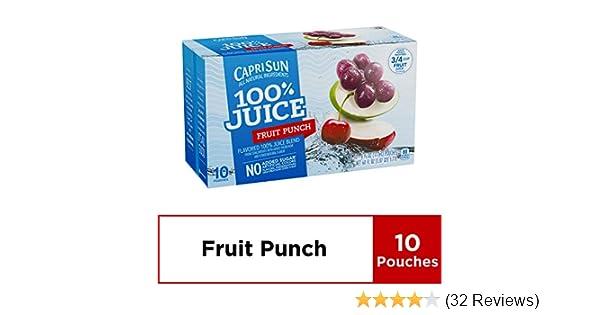Capri Sun 100% Fruit Punch Juice, 60 Fl  Oz (Pack of 4)