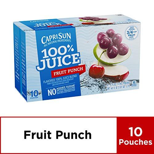 Capri Sun 100% Fruit Punch Juice, 10 ct - Pouches, 60.0 fl oz Box