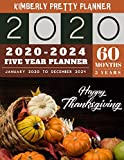 5 Year Planner 2020-2024: 2020-2024 yearly and