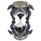 Design Toscano - Juego de 2 Relojes de Arena con diseño de dragón, Set de 2, Juego de 2, 1