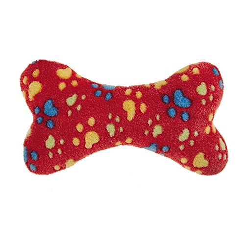 Zanies Ruff N Tumble Bone Dog Toys, Small Red, 7.5