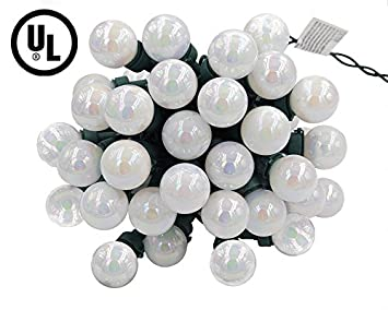 christmas lights ul listed 25 led g25 glass bulbs string lights green wire outdoor