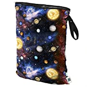Planet Wise Wet Diaper Tote Bag (Far Far Away, Large)