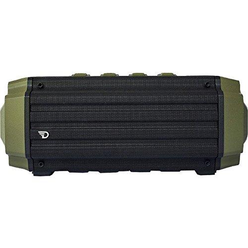 Dreamwave Tremor Army Green Black Aluminum Wireless 50W Rugged Outdoor Bluetooth Speaker