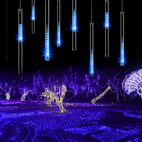Led Meteor Shower Solar Lights Garden Kingcoo Waterproof