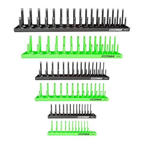 OEMTOOLS 22233 6 Piece Socket Tray Set - Metric and SAE (Renewed)