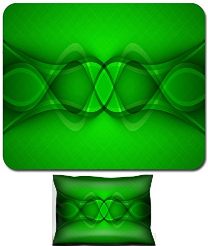 Liili Mouse Wrist Rest and Small Mousepad Set, 2pc Wrist Support Abstract green background Vector Clip art 28872531