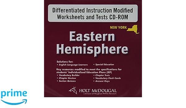 Workbook differentiated instruction worksheets : Holt McDougal Eastern Hemisphere © 2009 New York: Differentiated ...