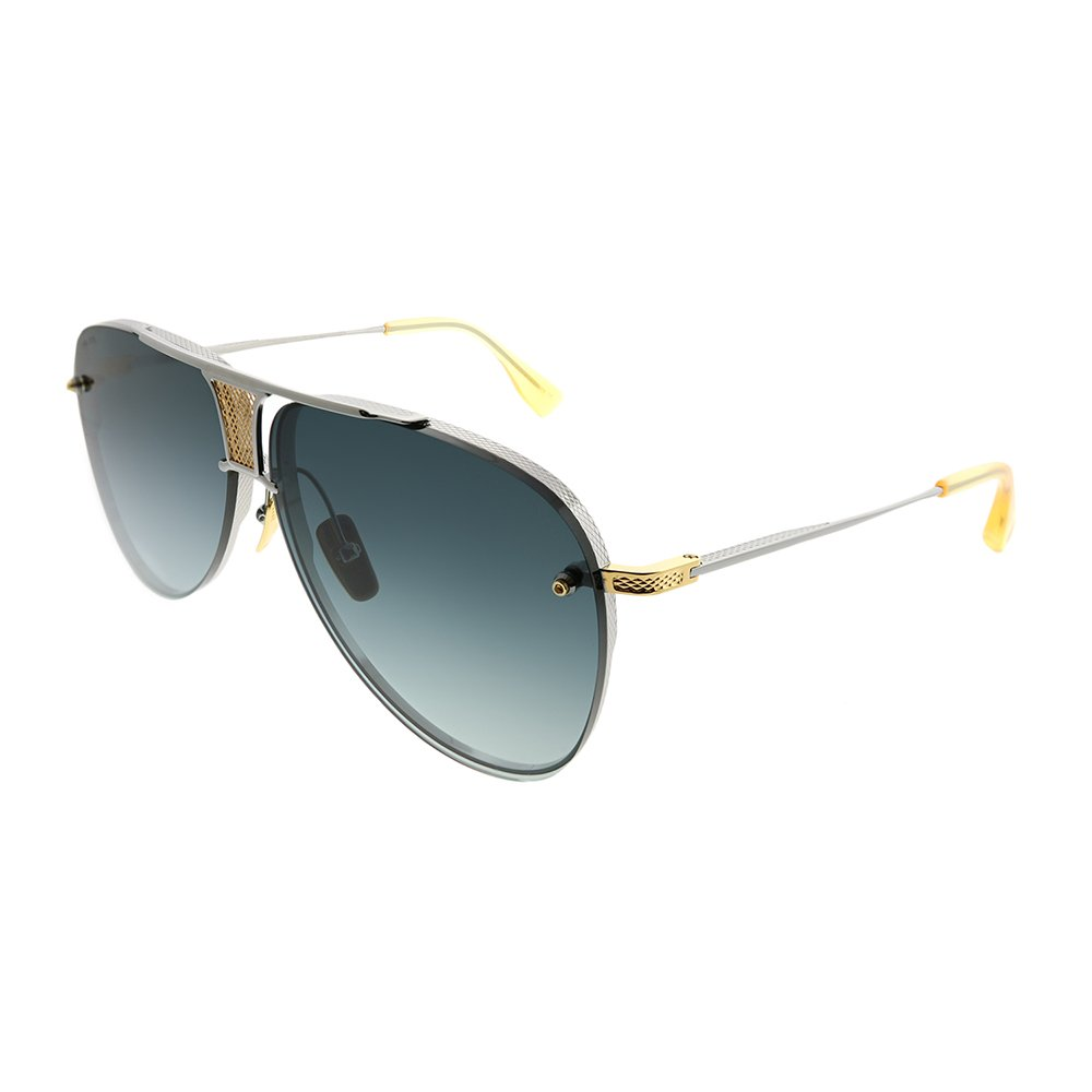 42452ac30886 Amazon.com  DITA Luxury Eyewear Sunglasses Decade-Two DRX-2082-A-SLV-GLD-62  Gold w Silver  Clothing
