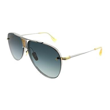 47e8d85558bd Amazon.com  DITA Luxury Eyewear Sunglasses Decade-Two DRX-2082-A-SLV-GLD-62  Gold w Silver  Clothing