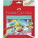 Lápis de Cor Aquarelável, Faber-Castell, EcoLápis, 120248G, 48 Cores