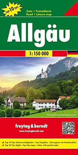 Freytag Berndt Autokarten, Allgäu, Top 10 Tips - Maßstab 1:150.000 (freytag & berndt Auto + Freizeitkarten)