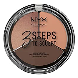 NYX PROFESSIONAL MAKEUP 3 Steps to Sculpt Face Sculpting Palette, Deep