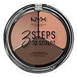 NYX PROFESSIONAL MAKEUP 3 Steps to Sculpt Face Sculpting Palette, Deep