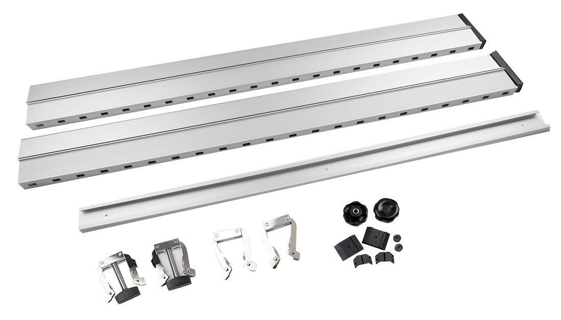 Clamp Vertical Glue Press system Kit includes 2 clamps, 1 aluminum trail
