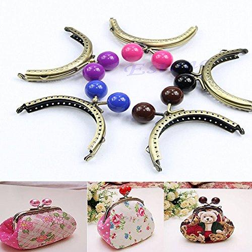 Sewing Bronze Sew Purse Handbag Handle Coins Metal Bag Kiss Clasp Frame 8.5cm by princessdress08