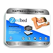Zedbed Protect Plus by, 100-Percent Waterproof Mattress Protector, 5 Sided Protection, Eliminates Dust Mites, Limited Lifetime Warranty, Twin Size, White