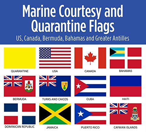 Blue Marble Marine Set of 12 Courtesy and Quarantine Flags for US, Canada, Bermuda, Bahamas and Greater Antilles. 12 X 18 inches, UV fade-resistant. by Blue Marble Marine (Image #1)
