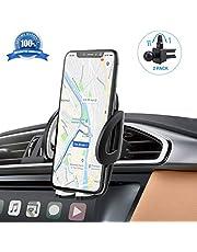 IZUKU Supporto Auto Smartphone [Versione Migliorata] Porta Cellulare Auto per telefoni iPhoneX/8/7/6,Samsung S9/8/7,Xiaomi,Huawei Honor e GPS Dispositivi di Larghezza 5,3cm-9,5cm