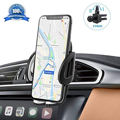 Rejillas del Aire Soporte Movil Coche Compatible con iPhone Samsung Xiaomi Huawei y Dispositivos GPS Tama/ño Ajustables Soporte Magn/ético Universal POOPHUNS Soporte Coche 360/° Rotaci/ón