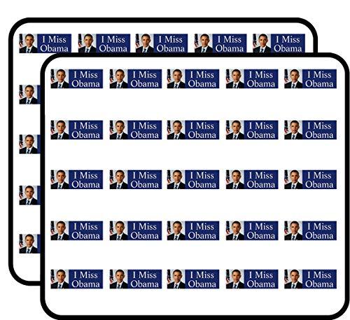 I Miss Obama (Barack President Anti Trump) Sticker for Scrapbooking, Calendars, Arts, Kids DIY Crafts, Album, Bullet Journals Anti Barack Obama Stickers