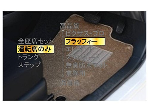 カーマット ホンダ パートナーバン HMJ.HM# 平成8年3月~平成18年3月 運転席のみベージュ-フラッフィー B07BRH4D59 運転席のみ|4ベージュ 4ベージュ 運転席のみ