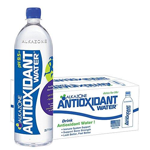 Water Antioxidant - Alkazone Antioxidant 9.5 pH Alkaline Bottled Water, 23.7 fl oz, (Pack of 24)