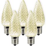 Holiday Lighting Outlet LED C9 Sun Warm White Replacement Christmas Light Bulbs, Commercial Grade, 3 Diode (Led's) in Each Bulb. Fits in E17 Sockets. Pack of 500 Bulbs