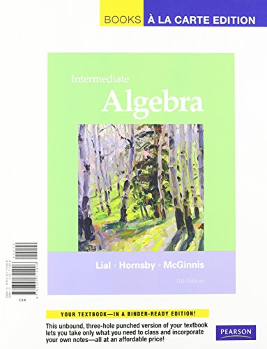 Intermediate Algebra, Books a la Carte Plus MML/MSL Student Access Code Card (for ad hoc valuepacks) (11th Edition)