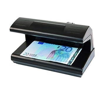 Detector de dinero. Detector billetes falsos. Reconoce dinero controla euros luz UV: Amazon.es: Oficina y papelería