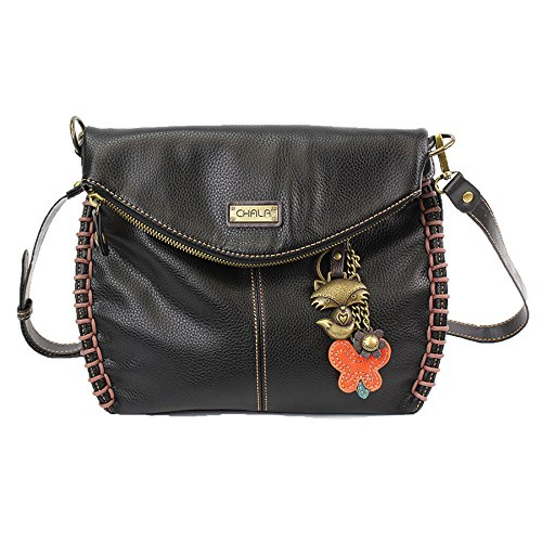 Fox Black and Chala Shoulder Handbag Zipper Black Charming Crossbody Bag or Top With Flap F6U6pW47