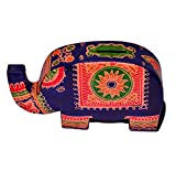 Purpledip Piggy Bank Purse Shaped as an Elephant made of Cruelty Free Leather, Strong & Sturdy (10597)