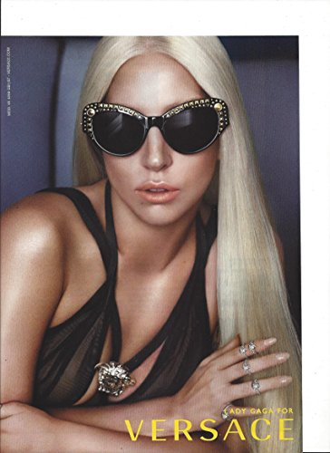 MAGAZINE ADVERTISEMENT With Lady Gaga For 2014 Versace Black - Gaga Versace