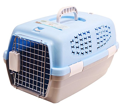 BPS (R) Transportín Rígido para Perro o Gato, Animales Domésticos, Tamaño: 48 x 30 x 28 cm. (Azul)