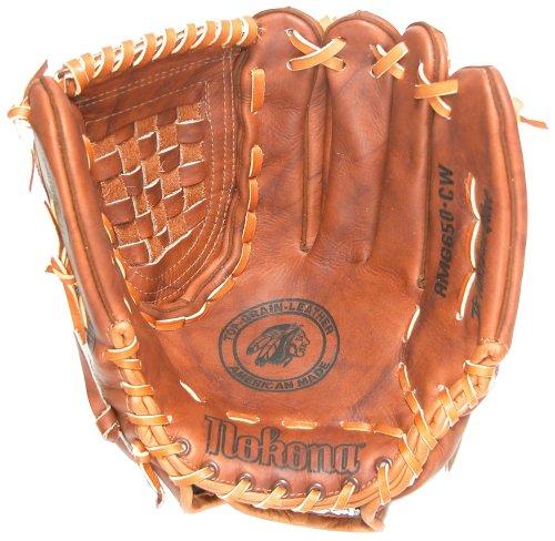 (Nokona AMG650-W-CW 13-Inch Closed Web Walnut Leather Baseball Glove (Right-Handed Throw))
