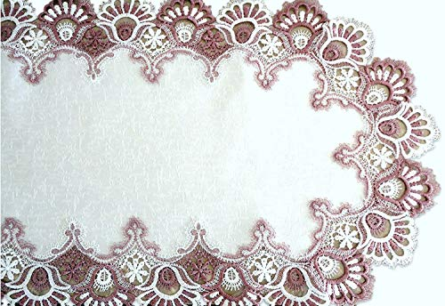 Galleria di Giovanni Mauve Rose Lace Dresser Scarf Table Runner Pink 35