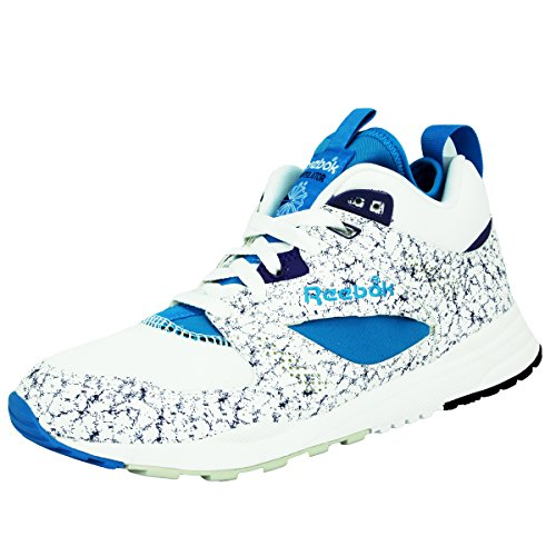 Reebok CLASSIC VENTILATOR MID BOOT AOG Chaussures Sneakers Mode Homme Blanc Bleu Hexalite Reebok CLASSIC