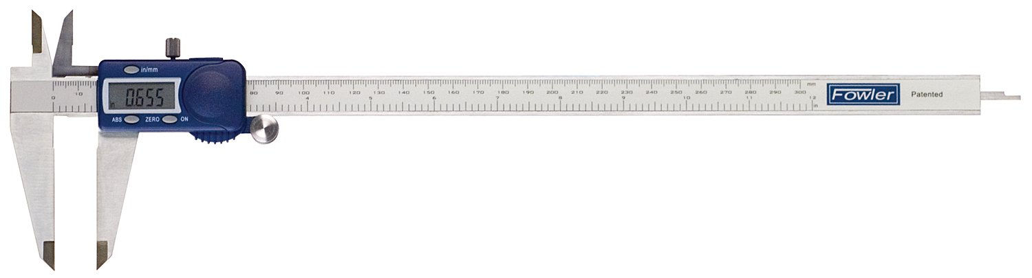 Fowler Full Warranty 54-101-300-1 Stainless Steel Frame Xtra-Value Cal Electronic Caliper, 12'' Maximum Measurement