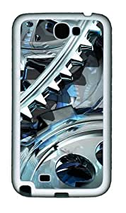 3D Gear Design Personalized Samsung Galaxy Note 2/ Note II/ N7100 Case and Cover - TPU - Black