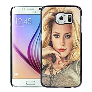 New Personalized Custom Designed For Samsung Galaxy S6 Phone Case For Amber Heard Paint Phone Case Cover