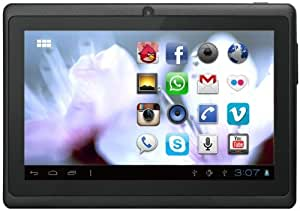PRIXTON T7004 4GB 3G Black - Tablet (IEEE 802.11n, Android, Pizarra, Android, Negro, Litio)