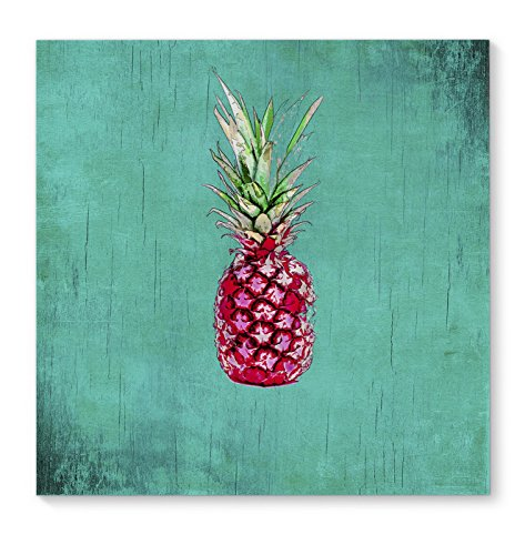 Pink Pineapple Canvas Wall Art - kitchen shabby chic wall art