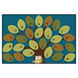 Carpets for Kids 20728 Owl-Phabet Kids Rug Size: 8' x 8' x, 8' x 12' , Blue