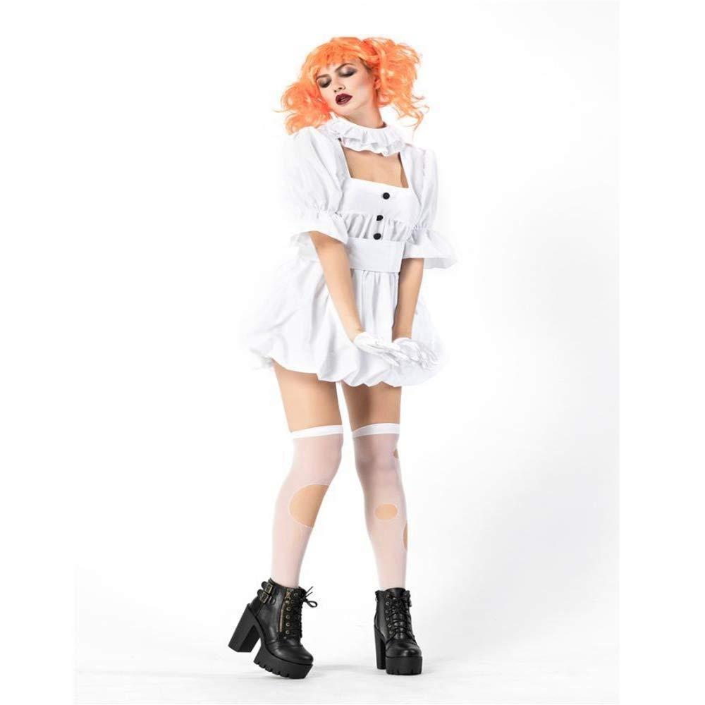 Yunfeng Hexenkostüm Damen Halloween Vampir Geist Braut Ghost Puppe Kostüm cos Leistung weißes Kleid Dress